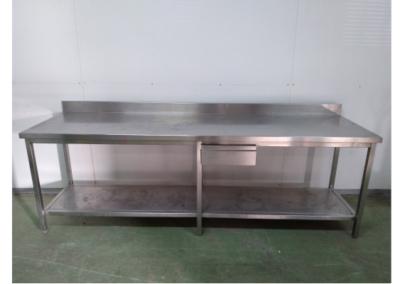 Table inox avec dosseret